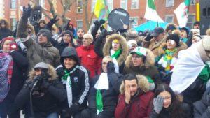 Cache-a-l'œil en solidarité aux manifestants éborgnés